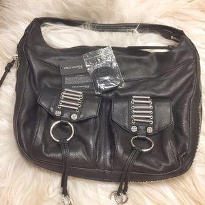 NWOT Joelle Hawkens Black Leather Bag